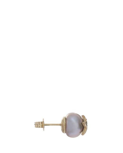 Carolina Bucci | Metallic Single Pearl Stud Earring | Lyst
