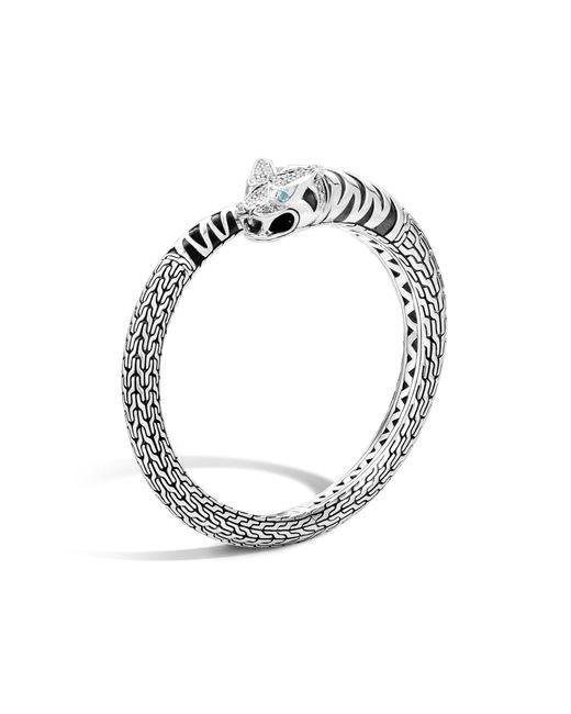 John Hardy | Metallic Macan Kick Cuff With Diamonds | Lyst