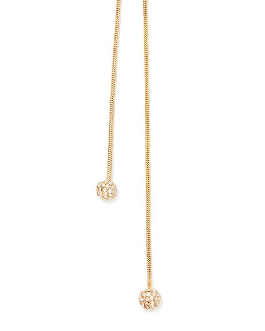 Forever 21 | Metallic Rhinestoned Ball Drop Necklace | Lyst