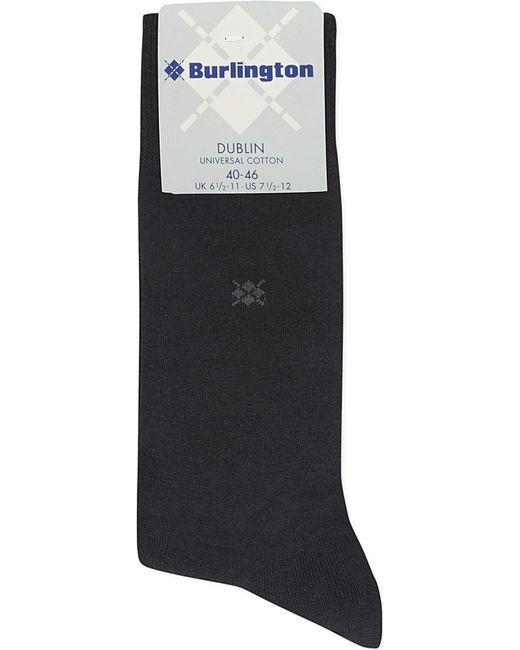 Burlington | Black Dublin Cotton Socks for Men | Lyst