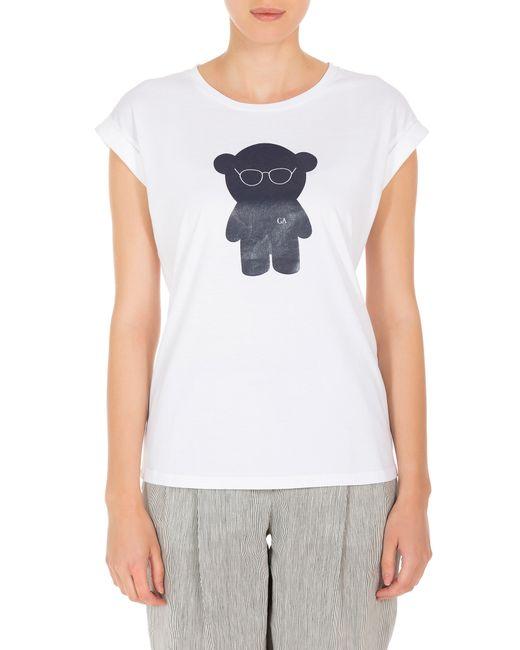 emporio armani bear print t shirt in blue lyst. Black Bedroom Furniture Sets. Home Design Ideas