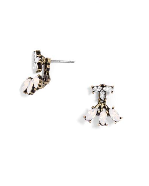 BaubleBar | White Juniper Ear Jackets | Lyst