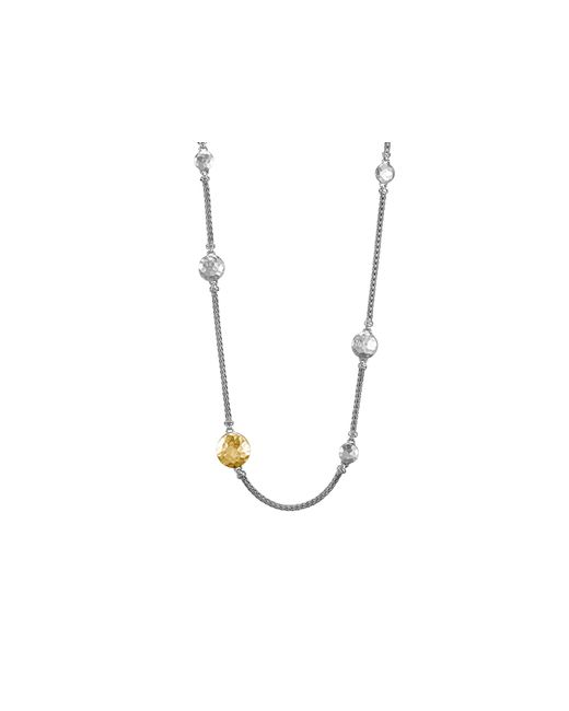 "John Hardy | Metallic Sterling Silver And 18k Gold Palu Station Sautoir Necklace, 36"" | Lyst"