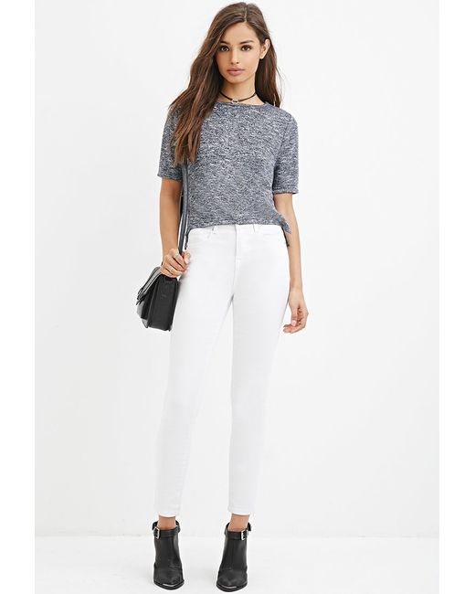 Forever 21 | Blue Boxy Marled Knit Top | Lyst