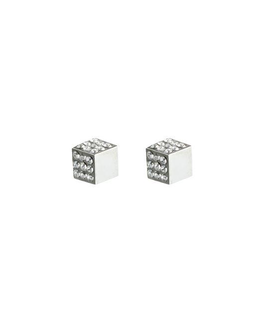 Eddie Borgo   Metallic Pavã© Cube Studs In Silver   Lyst