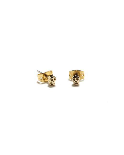 Bing Bang | Metallic Tiny Skull Studs | Lyst