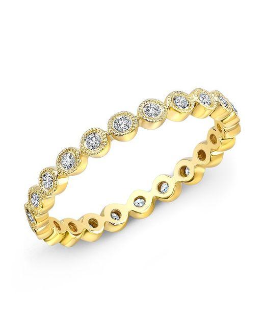 Anne Sisteron - Metallic 14kt Yellow Gold Bezel Set Diamond Ring - Lyst