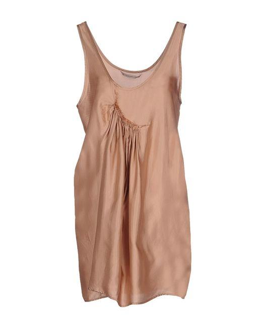 Novemb3r | Gray Short Dress | Lyst