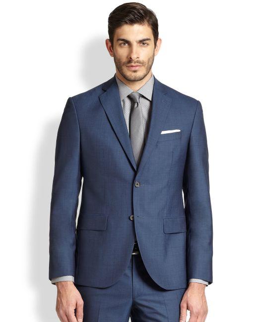 Saks Fifth Avenue | Blue Modern-fit Wool Sportcoat for Men | Lyst