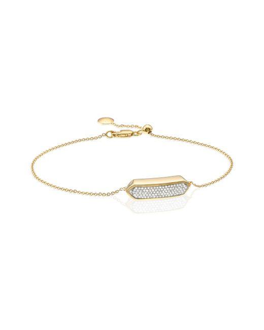 Monica Vinader   Metallic Baja Mini Bracelet - Diamond   Lyst