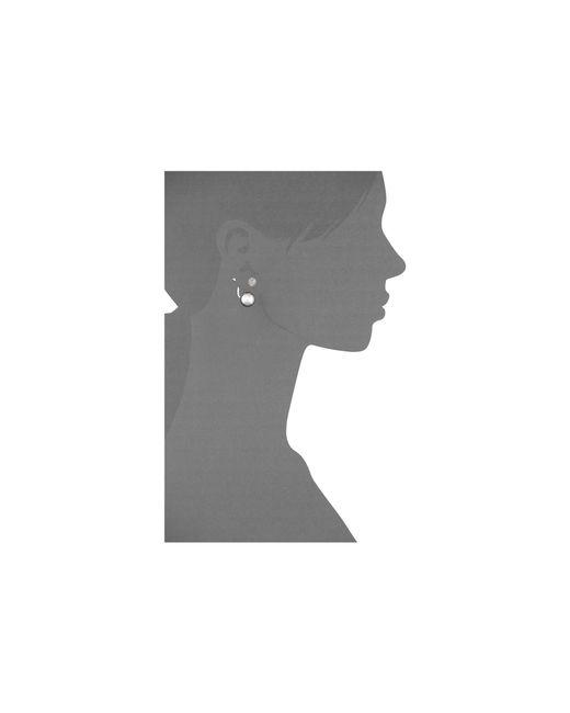 Vince Camuto | Metallic 2 Part Sphere Earrings | Lyst