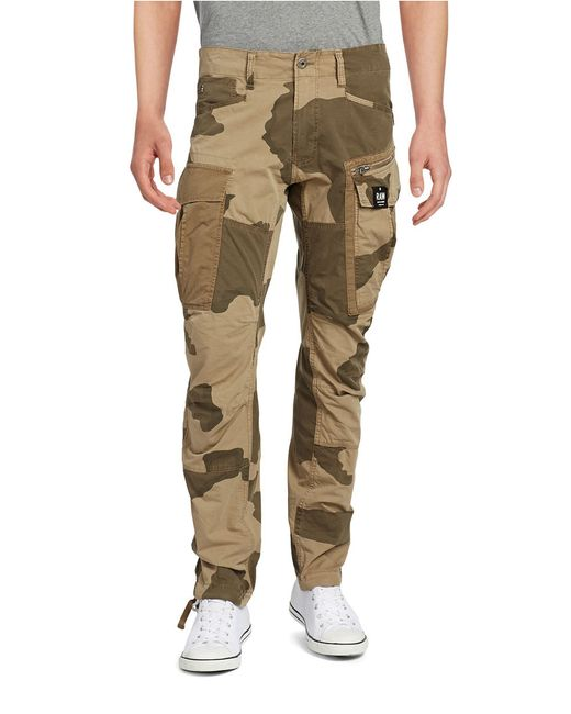 g star raw camouflage cargo trousers in natural for men lyst. Black Bedroom Furniture Sets. Home Design Ideas