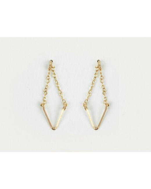 By Philippe | Metallic Gold Diamond Shaped Earrings | Lyst