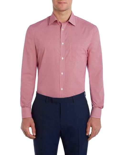 Howick | Pink Edison Small Gingham Shirt for Men | Lyst