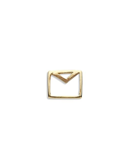 Loquet London | Metallic 18k Yellow Gold Envelope Charm - Love Letters | Lyst