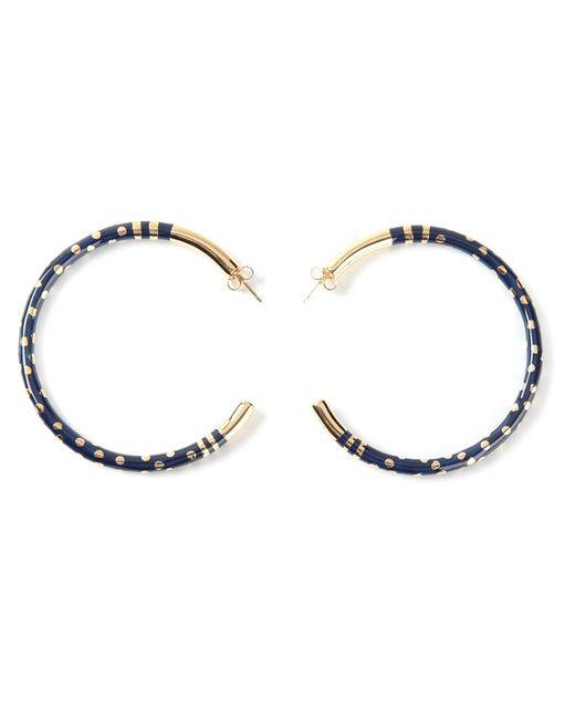 Aurelie Bidermann   Blue 'rive Gauche' Hoop Earrings   Lyst