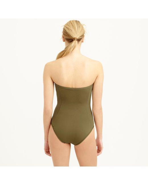 J.Crew | Green High-waist French Bikini Brief In Italian Matte | Lyst