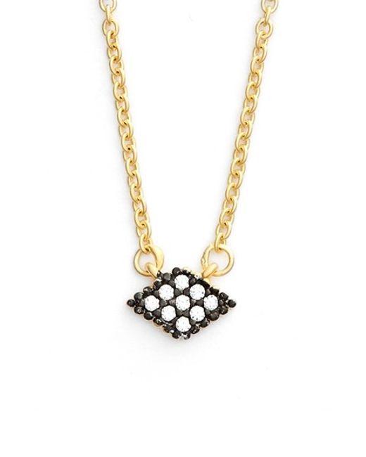 Freida Rothman | Metallic 'femme' Small Pendant Necklace | Lyst