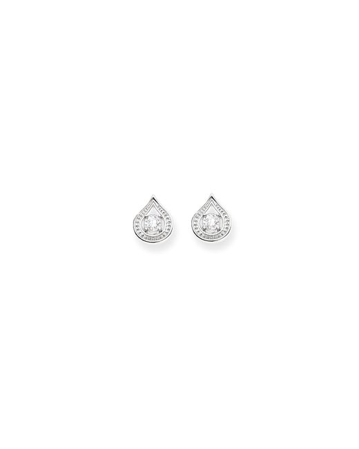 Thomas Sabo | Metallic Purity Of Lotos White Drop Ear Studs | Lyst