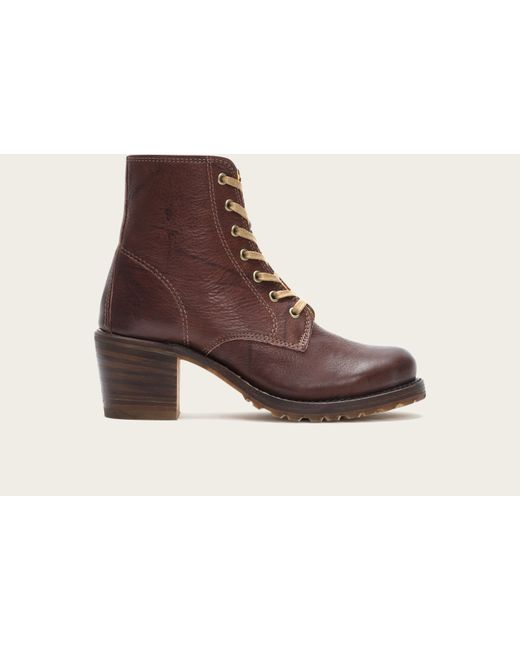Frye | Brown Sabrina 6g Lace Up | Lyst