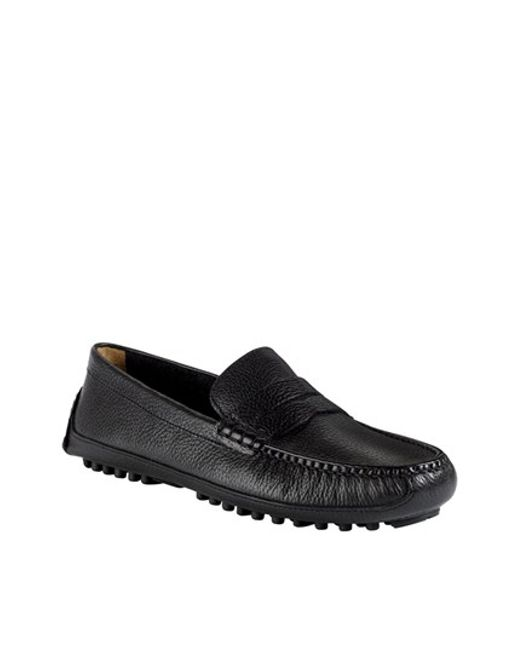 Cole Haan | Black 'grant Canoe' Penny Loafer for Men | Lyst