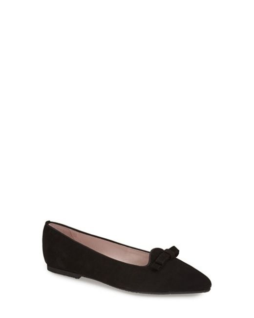 Patricia Green | Black Penelope Pointed-Toe Flats | Lyst