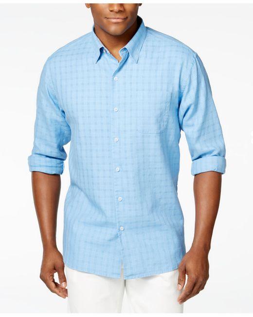 Tommy Bahama Men S Sydney Squares Long Sleeve Shirt In