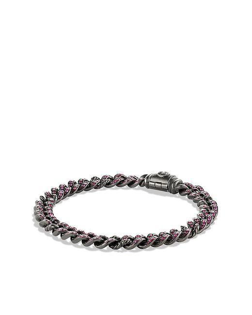 David Yurman | Petite Pavé Curb Link Bracelet With Pink Sapphires | Lyst