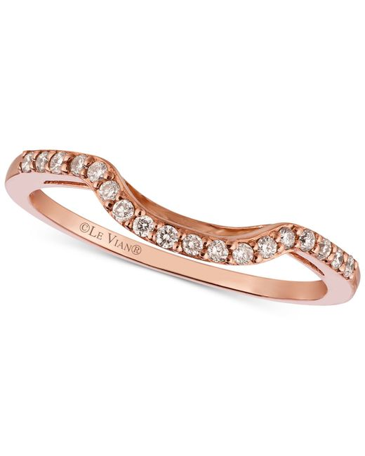 Le Vian | Metallic ® Diamond Curved Ring In 14k Rose Gold (1/6 Ct. T.w.) | Lyst