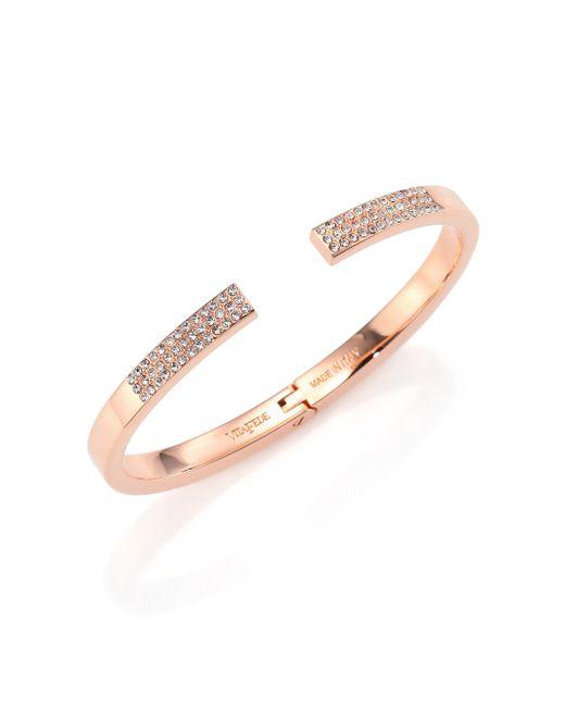 Vita Fede   Metallic Diviso Crystal Cuff Bracelet/Rose Goldtone   Lyst