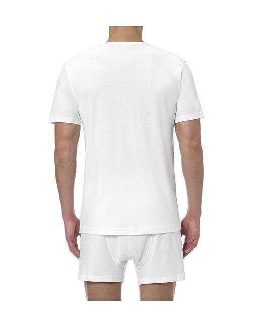 Sunspel | White Men's Sea Island Cotton Low V-neck T-shirt for Men | Lyst