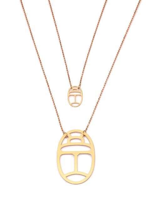 Ginette NY | Pink Wish 18k Rose Gold Double-pendant Necklace | Lyst