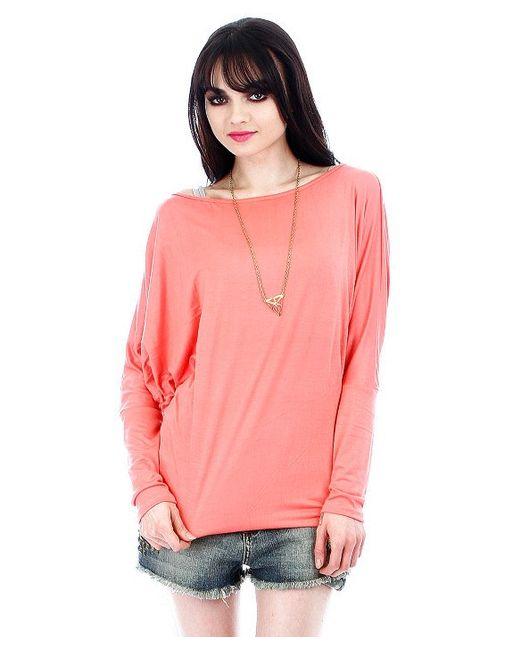 Fashion club usa Dolman Sleeve Top in Pink