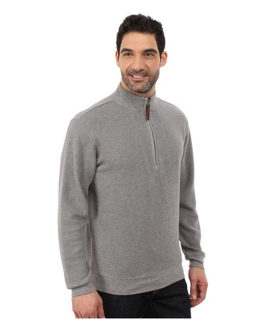 Woolrich Bromley Half Zip In Gray For Men Steel Gray