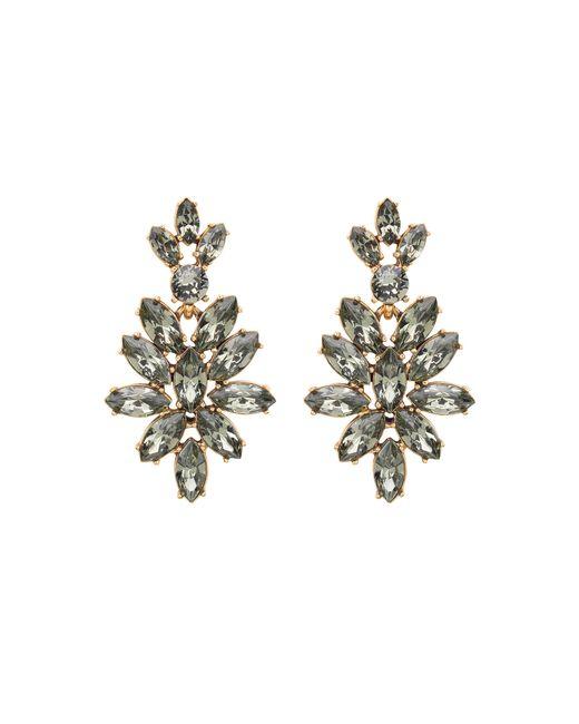 Oscar de la Renta | Black Swarovski Crystal Navette Drop Earrings | Lyst