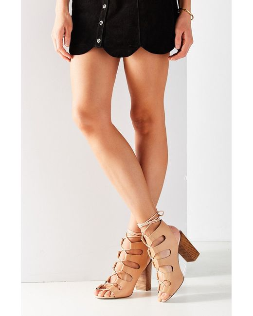 Jeffrey campbell Allow Lace-up Heel in Brown (NEUTRAL)