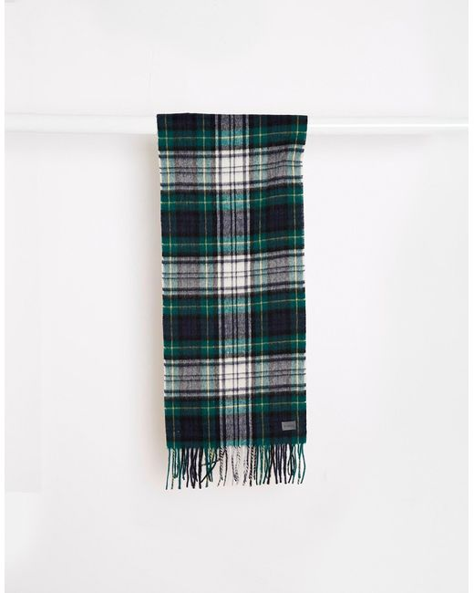 Minimum | Check Wool Scarf - Green for Men | Lyst