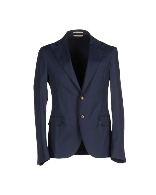 Atelier scotch blazer in blue for men dark blue lyst for Atelier maison scotch