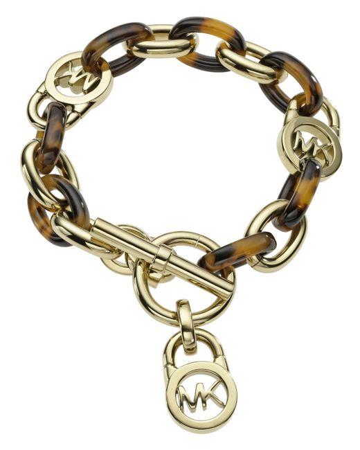 Michael Kors | Metallic Toggle Link Bracelet | Lyst