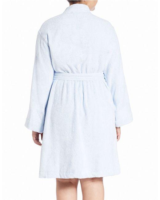 Lauren by Ralph Lauren   Blue Plus Greenwich Towel Cotton Robe   Lyst