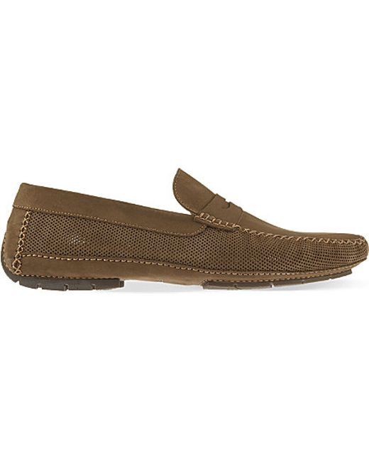 Stemar | Brown Lipari Nubuck Driving Shoes for Men | Lyst