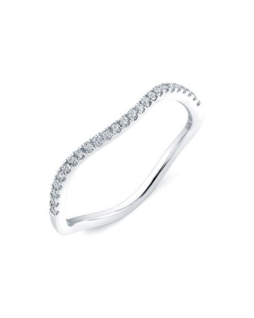 Bony Levy | White Stackable Wavy Diamond Ring (nordstrom Exclusive) | Lyst