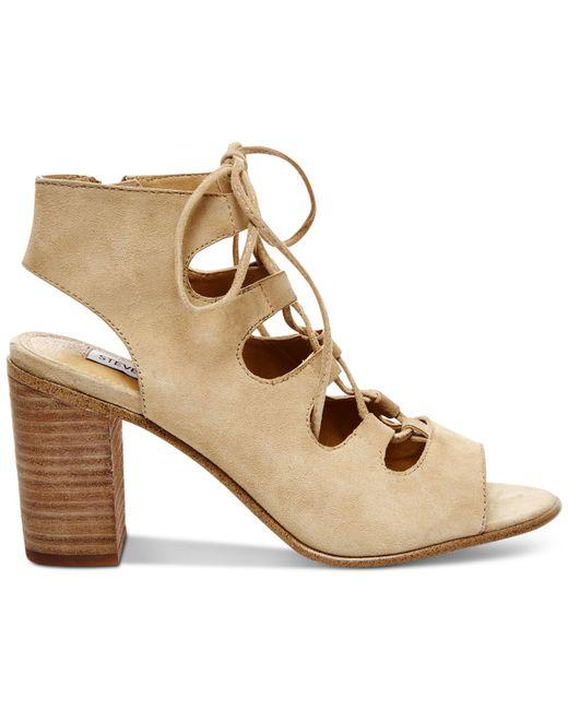 Steve Madden | Natural Women's Nilunda Lace-up Sandals | Lyst