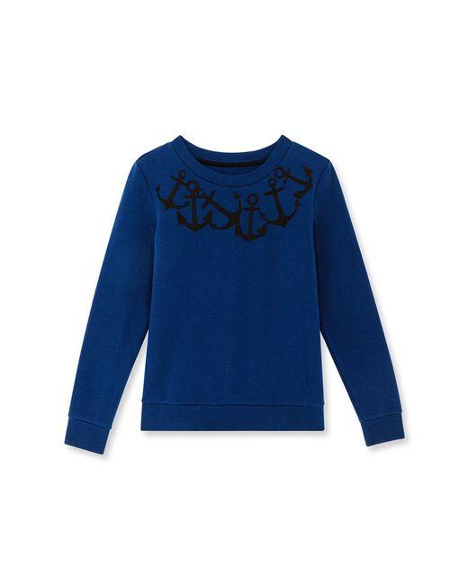 Petit Bateau | Blue Women's Embroidered Sweatshirt | Lyst
