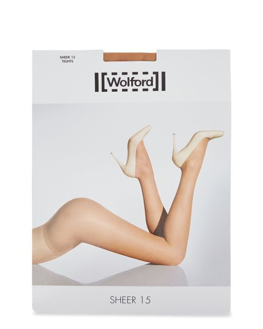 Wolford | Natural Sand Sheer 15 Denier Tights | Lyst