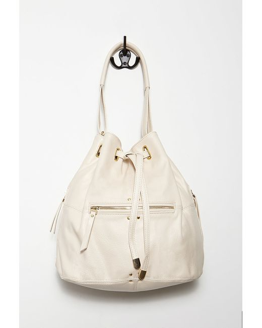 Forever 21 | Natural Faux Leather Hobo Bag You've Been Added To The Waitlist | Lyst