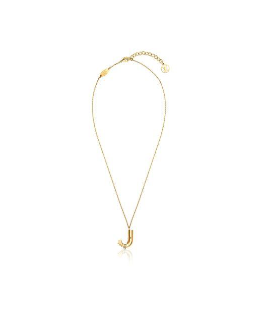 Louis Vuitton | Metallic Lv & Me Necklace, Letter J | Lyst