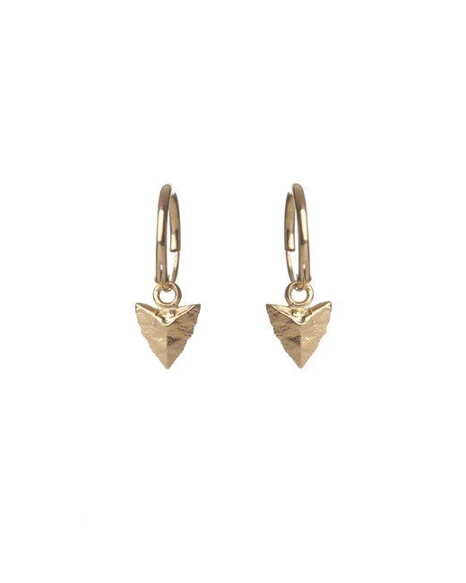 Rachel Entwistle   Metallic Modern Primitive Mini Hoops Gold   Lyst
