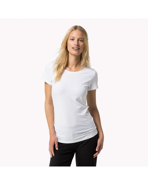 Tommy Hilfiger | White Iconic T-shirt | Lyst