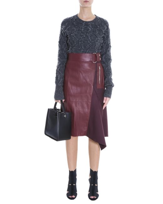 3 1 phillip lim leather skirt in lyst